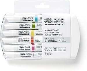 Winsor & Newton Pigment Marker Vibrant Tones 6 Set