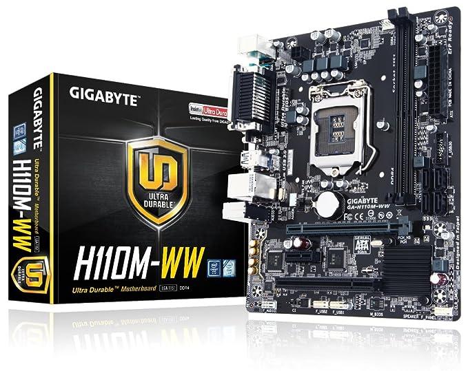 Gigabyte GA-H110M-WW Ultra Durable Motherboard ( Socket - LGA 1151, DDR4, USB 3.0, Intel 6th Generation ) Motherboards at amazon