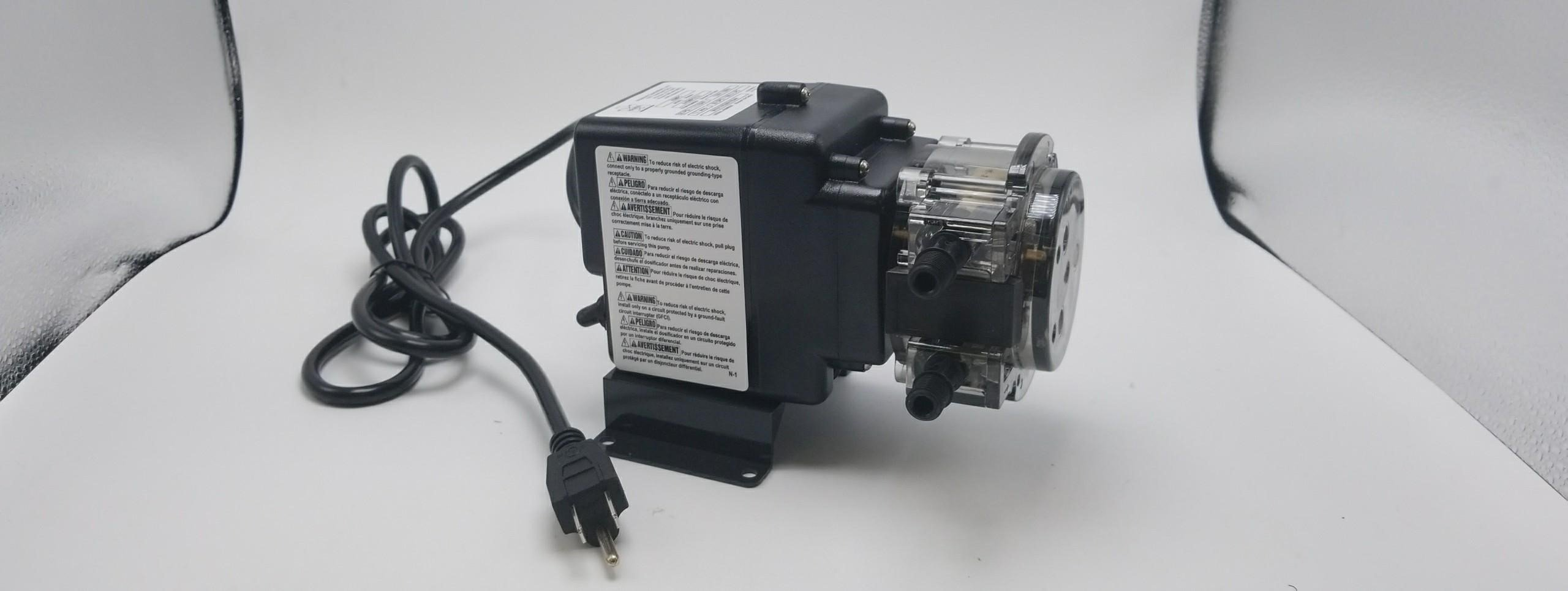 Stenner Pump 85MPHP17 - Stenner Peristaltic Pump Fixed Head - Rated at 17 GPD Fixed Head. Rated at 100 psi. - Ideal Chlorine Injection Pump. 120 Volts, Model Number 85MFH2 (Motor and Pump Head only)