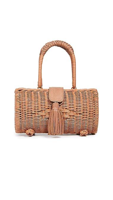 ed8cca427 Cleobella Women's Clarissa Wicker Bag, Natural, Tan, One Size ...
