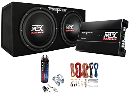 amazon com mtx dual 12 subwoofers and amplifier package with rh amazon com Home Theater Subwoofer Wiring Subwoofer Wiring Diagrams