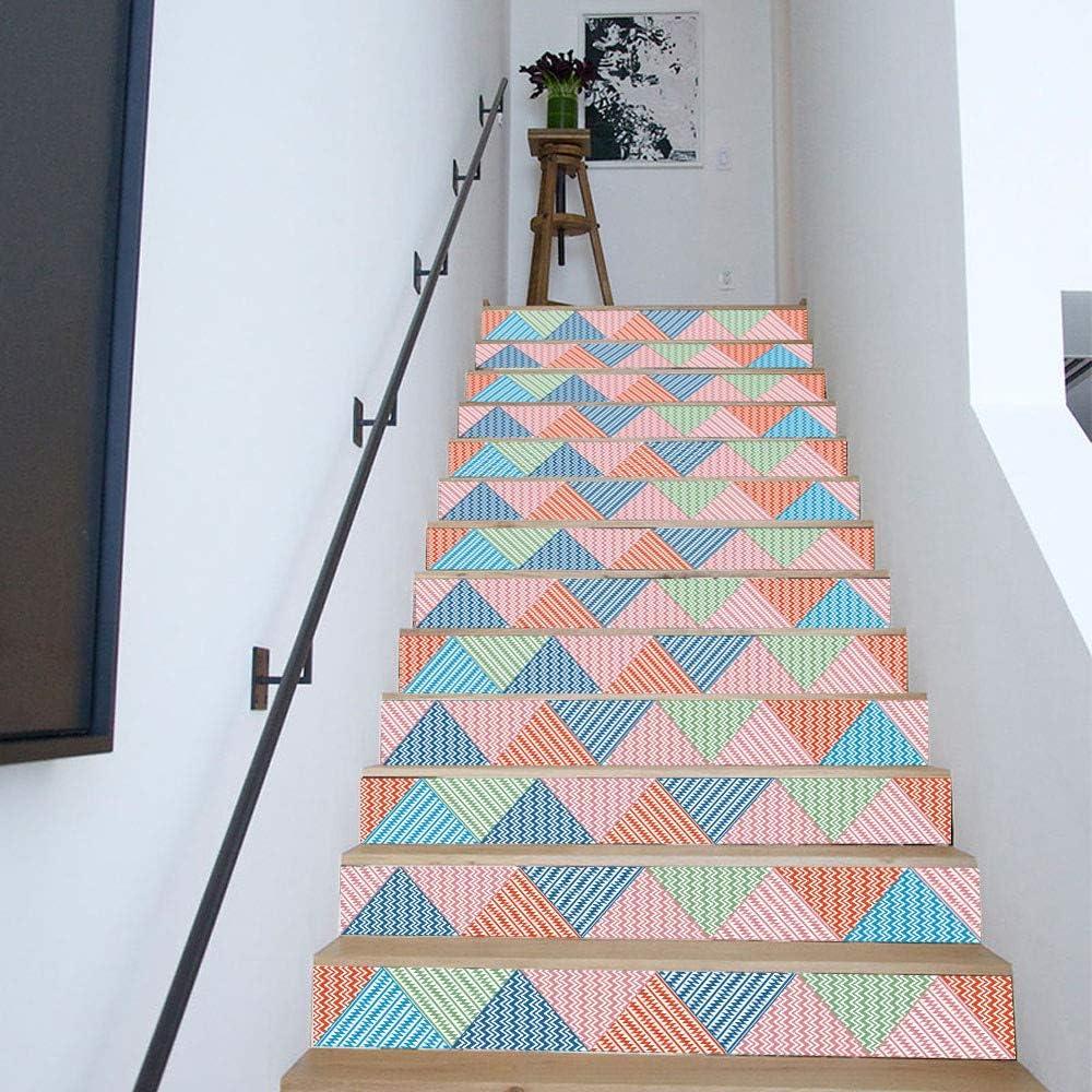 TianranRT DIY Pasos Pegatinas Desmontable Escaleras Pegatinas Casa Decoración Cerámica Azulejos patrón: Amazon.es: Hogar