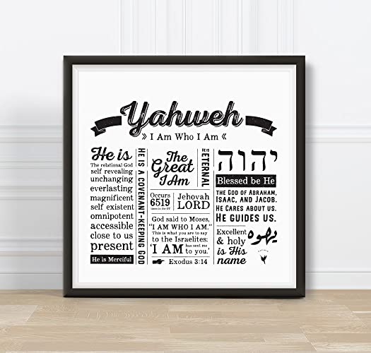 Yahweh - I AM Who I Am - Square - Artisanal Giclée Art Print [unframed