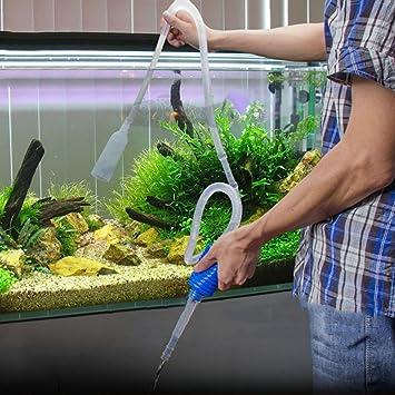 Manguera de succión de 140 cm de largo para limpiar peceras: Amazon.es: Productos para mascotas