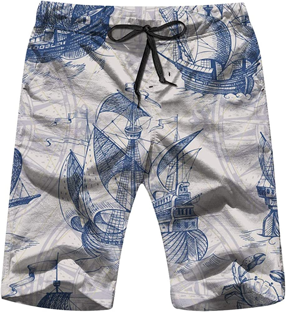 Mens Beach Surfing Boardshorts Swimming Trunks Clover Background Shorts