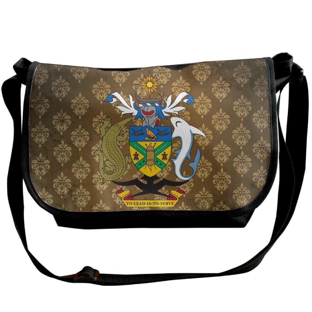 Lov6eoorheeb Unisex Coat Of Arms Of Solomon Islands Wide Diagonal Shoulder Bag Adjustable Shoulder Tote Bag Single Shoulder Backpack For Work,School,Daily