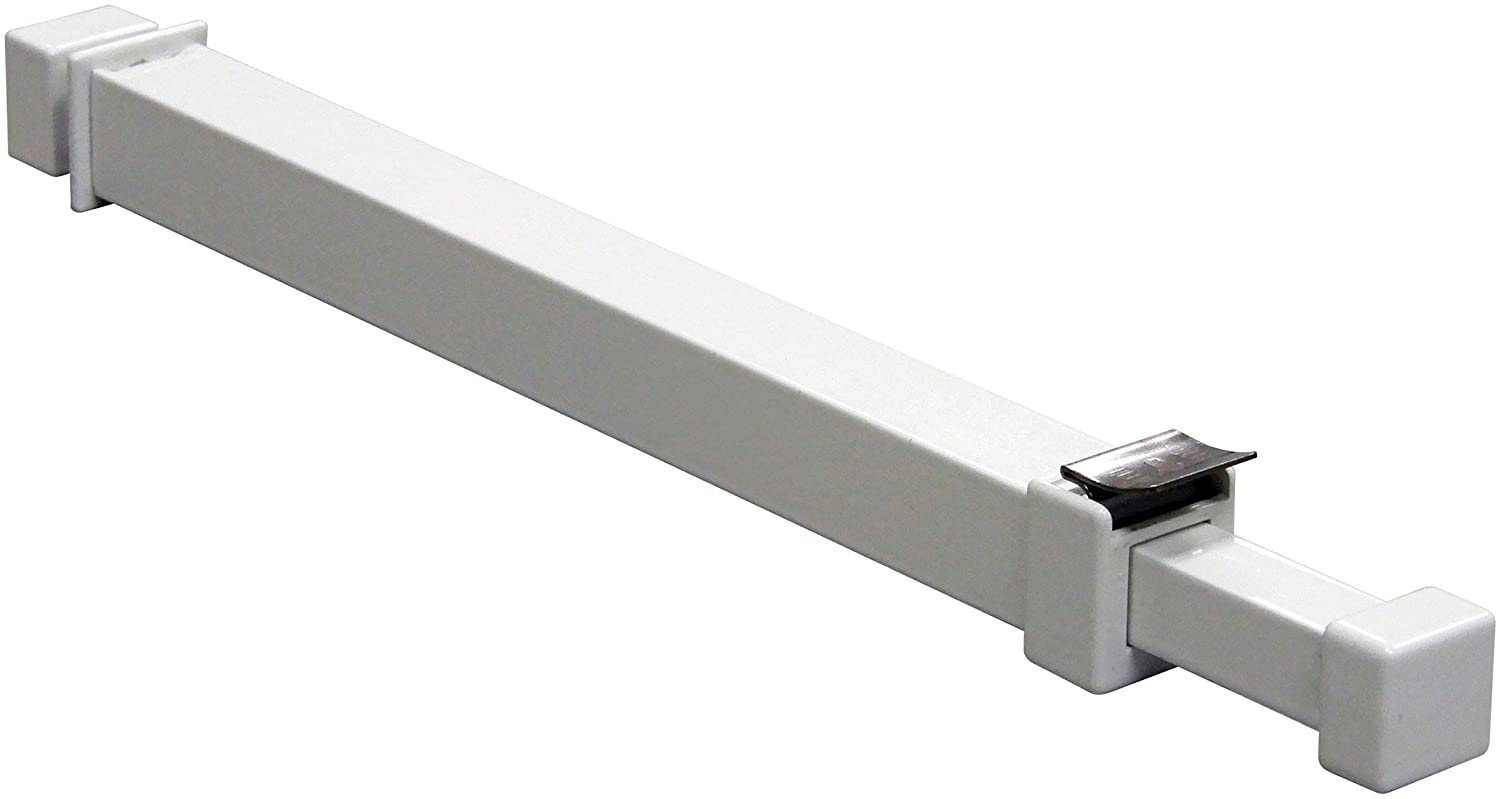 Ideal Security BK111W Window Security Bar with Child-Proof Lock, Adjustable, Medium, White