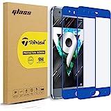 [2 piezas] Topnow Huawei Honor 9 Protector de pantalla, 2.5d cobertura total 9H Dureza vidrio templado pellicola vetro para Honor 9 -- azul Blue