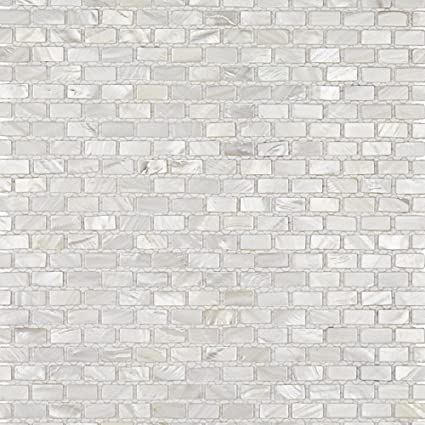 Mini Brick Oyster White Pearl Tile Mini Brick Pattern Glass Tiles Simple Brick Pattern Tile