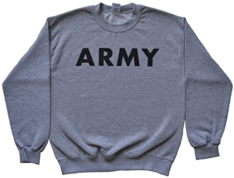 Army Sweatshirt at Amazon Men s Clothing store  1929301835a