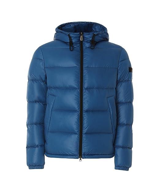 PEUTEREY - PEUTEREY uomo piumino giacca azzurro con cappuccio VELOSO 268 -  25796 - 2XL 8a5bc705f3b2