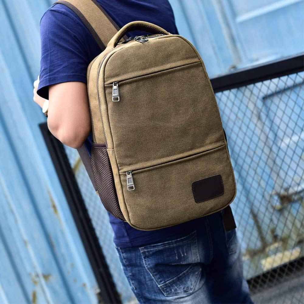 Amazon.com: UATECH Aelicy Men Backpack Casual Neutral Canvas Travel Boys School Bag Laptop Male bagpack Mochila Feminina ping: Home & Kitchen