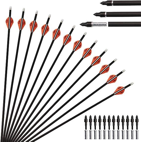 12PCS Aluminum Arrow 6.2mm Inserts Base for  Archery Arrows Practice 3C
