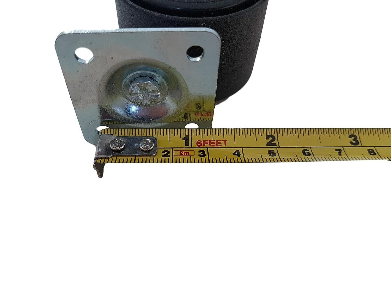Ausr/üstung drehbar Mini-Rollen-Set Ger/äte Packung mit 8 St/ück Kleine Kunststoff-Doppelrollen f/ür M/öbel 40 mm mit Metallplatte