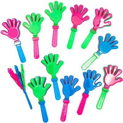 Hand Clappers, Party Favor Noisemakers for Parties (3.6 x 7.5 Inches. 12-Pack): Toys & Games