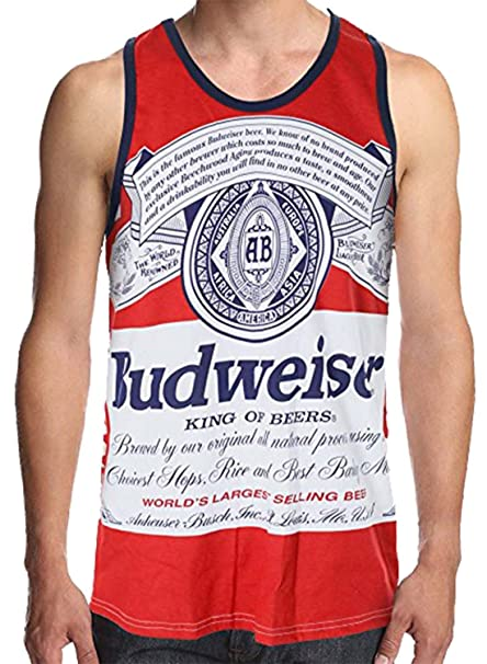 69e6a0c23d1b0a Calhoun Budweiser Men s Retro Logo Tank Top Red  Amazon.ca  Clothing ...