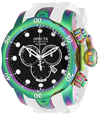 Invicta Venom Reloj de hombre cuarzo suizo correa de silicona dial negro 24061: Invicta: Amazon.es: Relojes