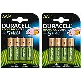 Duracell 2500mAh precargadas baterías recargables AA - Paquete de 8