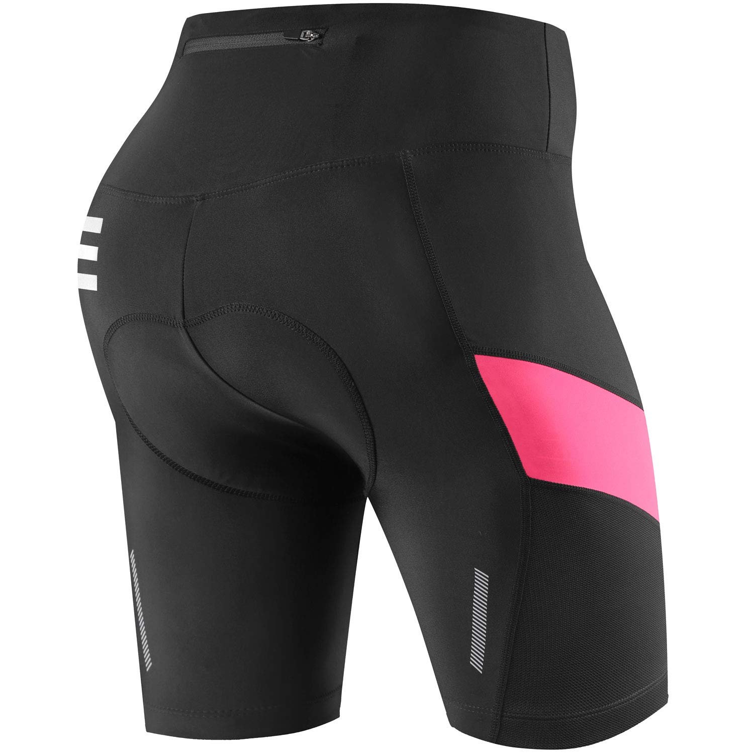 NOOYME Womens Bike Shorts 3D Padded Cycling Short with Ride in Color Design Cycling Shorts with Back Pocket