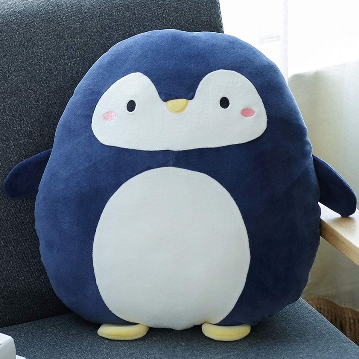 Ruzucoda Plush Penguin Hugging Pillows Ocean Stuffed Animals Toys Cute Decorative Pillow Sofa Decorations Soft Cushion Navy 15.7 Inches