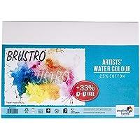 Brustro Artists Watercolour Paper, A3 Size, 25% Cotton, 300 GSM, 9 + 3 Sheets