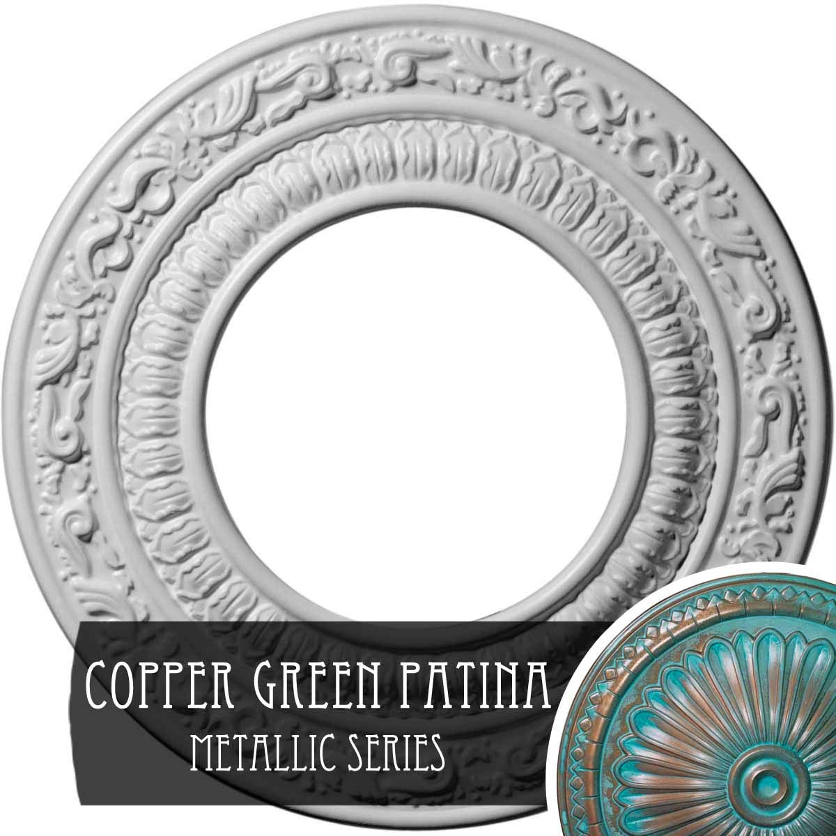 Ekena Millwork CM08ADCGS Andrea Ceiling Medallion, Copper Green Patina
