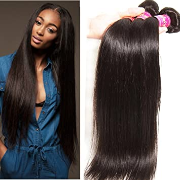 Awesome Amazon Com Unice Hair 7A Brazilian Straight Hair 3 Bundles Mixed Hairstyle Inspiration Daily Dogsangcom