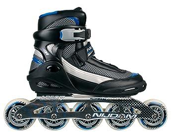 Nijdam 5-ruedas para patines en línea - Proline Negro negro Talla:41: Amazon.es: Deportes y aire libre