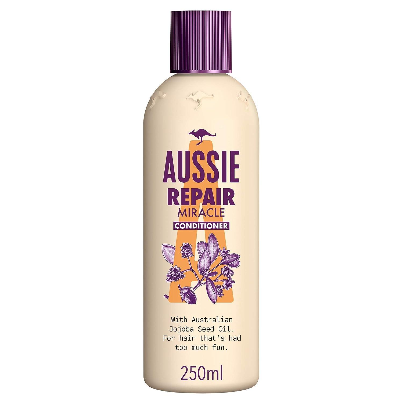Aussie Repair Miracle Acondicionador, Revitaliza el Cabello Deteriorado Dejándolo Suave y Lleno de Vida- 250 ml