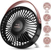 USB Desk Fan, multifun Mini Personal Desk Fan, Computer Table Adjustable Fan Quiet Operation, Small Portable USB Fan for Office, Home, Study and Outdoor Travel Use, a Free 3-Pack Cables as a Bonus
