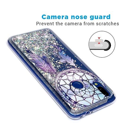 MUSESHOP Funda Xiaomi Redmi Note 7, Pintado Purpurina Líquida Que Fluye Cubierta Brillante Carcasa Liquida Cristal TPU Gel Fina Arenas Movedizas: Amazon.es: ...