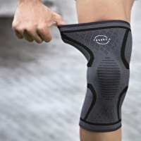 KNEE SUPPORT BY TRESSCA WITH BEST KNEECAP COMPRESSION | Provides Excellent 4 Way Support | High Performance Fabric | Anti-Slip System | Sweat Absorbing | Provides Perfect Knee Support for GYM, Badminton, Running, Weight Lifting