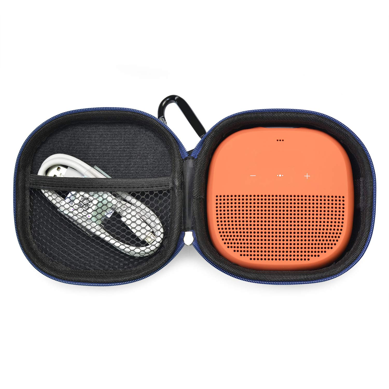 Alician Altoparlanti Custodia protettiva da viaggio rigida per altoparlante Bose SoundLink Micro Bluetooth blu