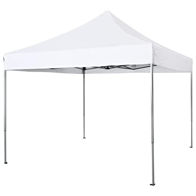 PHI VILLA 10' x 10' Instant Commercial Canopy Straight Leg Pop-up Canopy for Backyard, Party, Event, 100 Sq. Ft of Shade, White : Garden & Outdoor