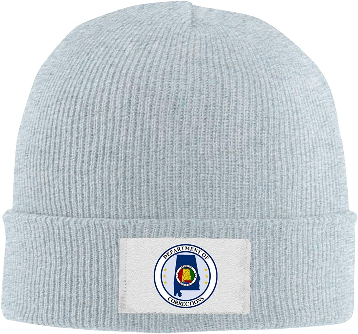 RZMdSG Seal of The Alabama Department of Corrections Unisex Winter Printed Warm Knitting Hats Skull Cap