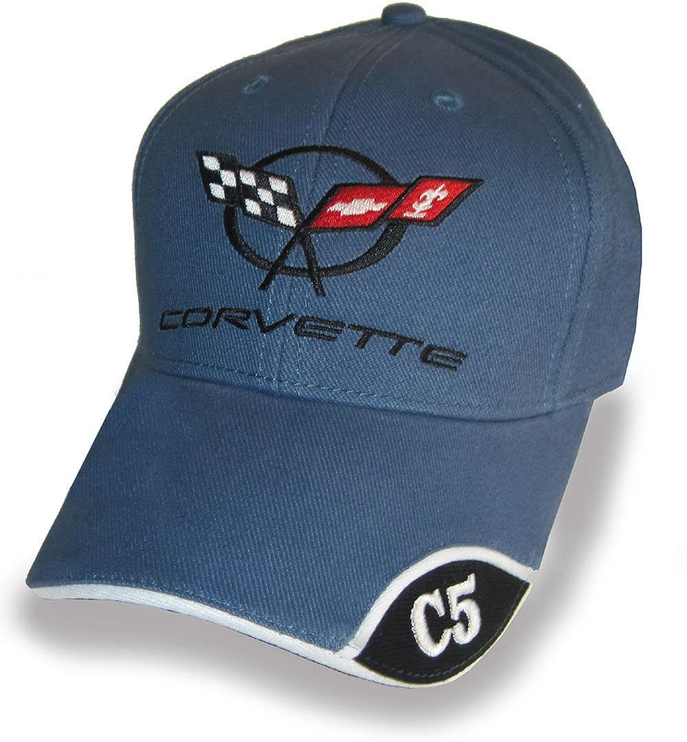 Bundle with Driving Style Decal Gregs Automotive Corvette C5 Hat Cap in Blue