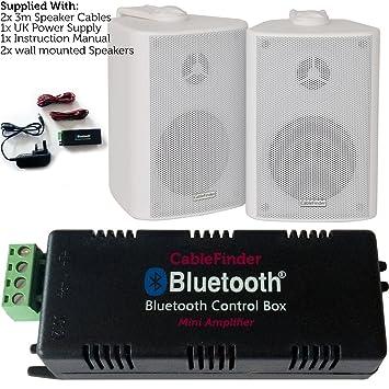 Inalámbrico/Bluetooth Amplificador y 2 x 100 W montado en la Pared Fondo Kit de