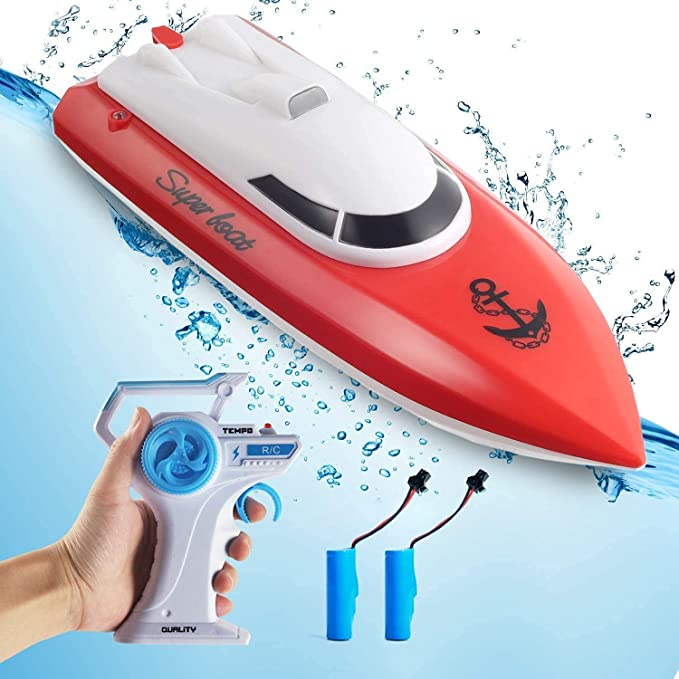 Wemfg RH701 15km//h High Speed Mini Boat Toys for Kids Adults Boys Girls Yellow RC Boat Remote Control Boats for Pools and Lakes