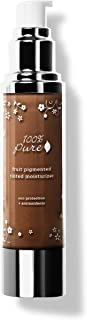 product image for 100% PURE Tinted Moisturizer (Fruit Pigmented), Cocoa, Light to Medium coverage, Dewy Finish, Lightweight Foundation Makeup, Natural, Vegan Makeup (For Deep Skin w/Neutral Undertones) - 1.7 Fl Oz