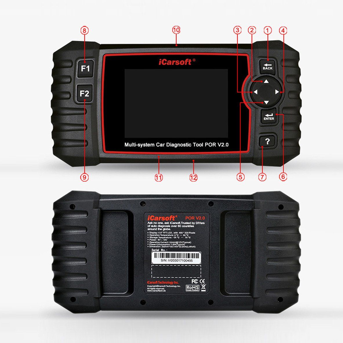 iCarsoft Auto Diagnostic Scanner POR V2.0 for Porsche with ABS Scan,Oil Service Reset ect by iCarsoft (Image #5)