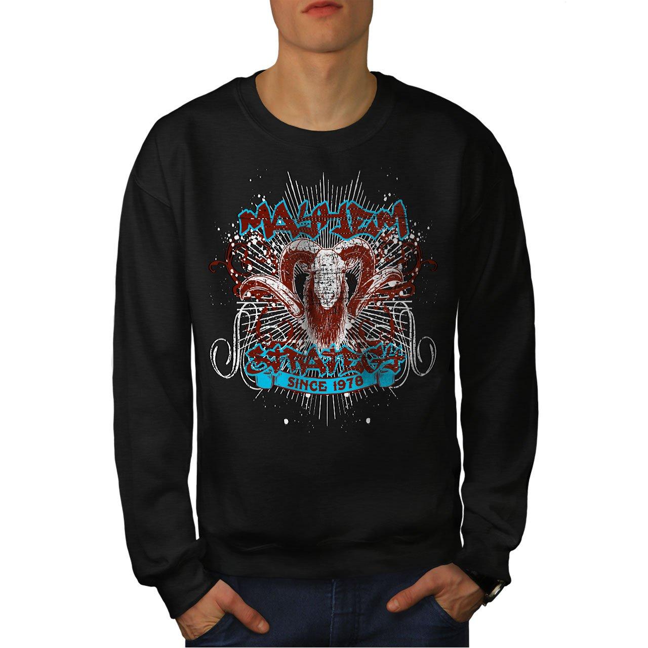 wellcoda Mayhem Strategy Vintage Mens Sweatshirt Angry Casual Jumper