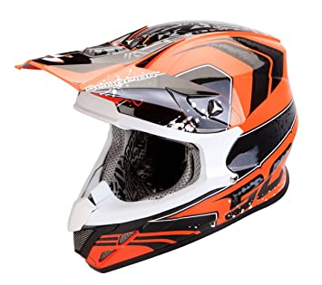 SCORPION Exo VX 20 Air quartz Negro (58) Gr.M naranja casco MX
