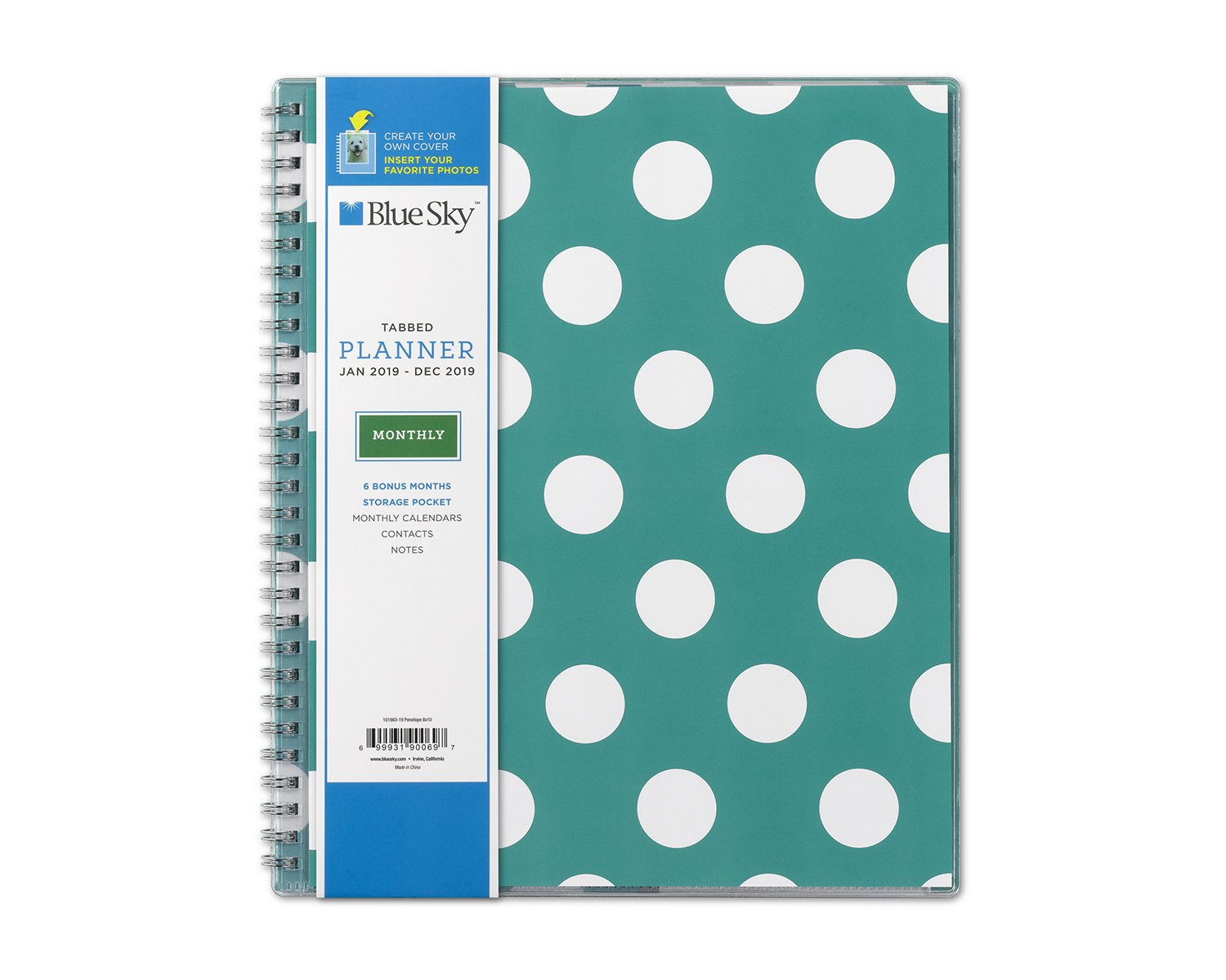 Amazon.com : Blue Sky 2019 Monthly Planner, Flexible Cover, Twin ...