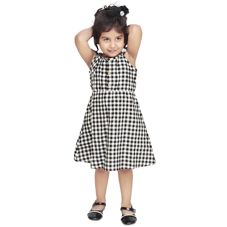 af3799cc783d Olele Black and White Check Strap Dress