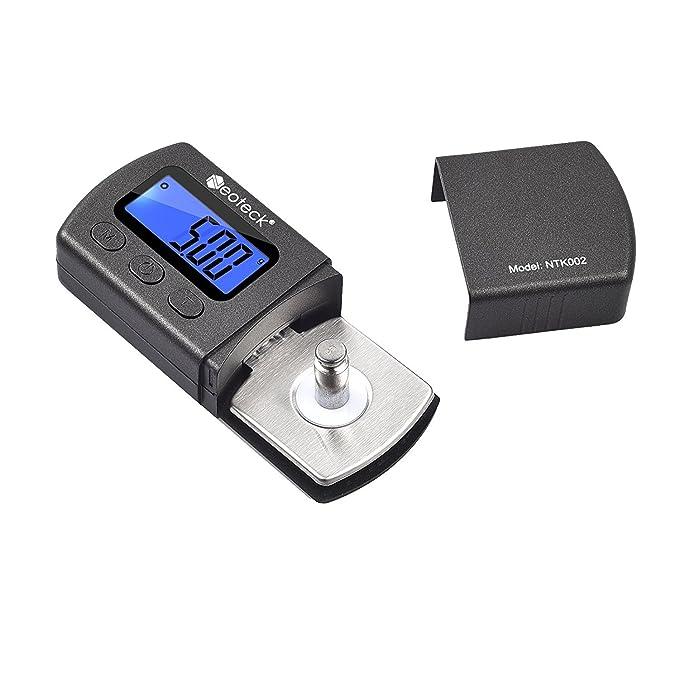 02cb8c7b03 Neoteck Tester Scala Forza di Stilo per Giradischi Bilancia 0.01g LCD  Retroilluminazione Blu per Braccio Giradischi Fono Cassetta Musicale - Nero  Opaco: ...