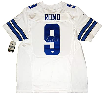 Signed Tony Romo Jersey #9 Nike Elite JSA Certified  for cheap