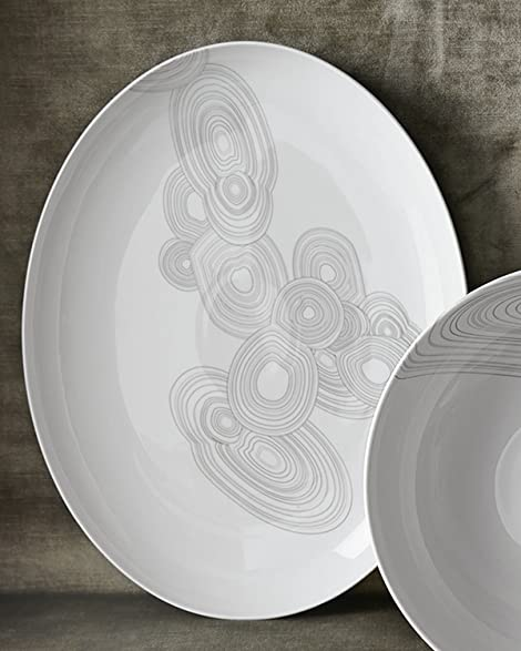 Jonathan Adler 21263 Malachite Oval Plate Gray & Amazon.com: Jonathan Adler 21263 Malachite Oval Plate Gray: Kitchen ...