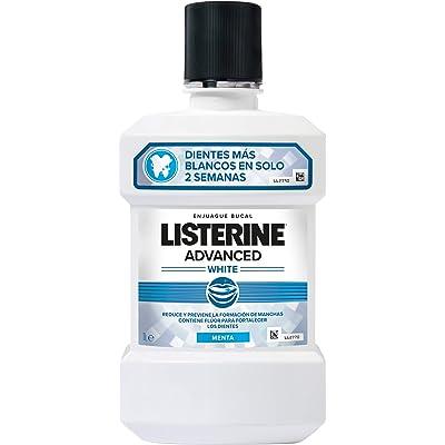 Listerine - Enjuague Bucal Blanqueador Avanzado, 1000 ml