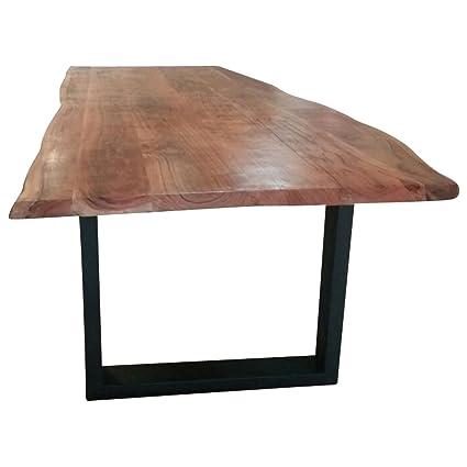 Comedor de tronco mesa algodón borde Acacia Madera Maciza mesa ...
