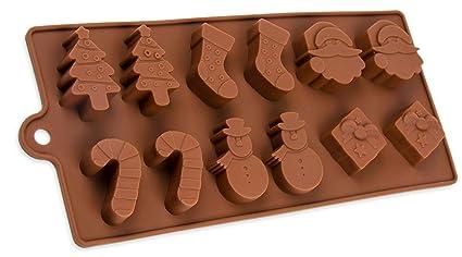 Silicona forma con, regalo de Papá Noel, muñeco de nieve, caramelo y de